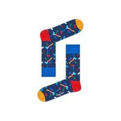 Skarpetki Happy Socks - Axe (AXE01-6000). Szare skarpety męskie Happy Socks, w kolorowe wzory, z bawełny. Za 34.90 zł.