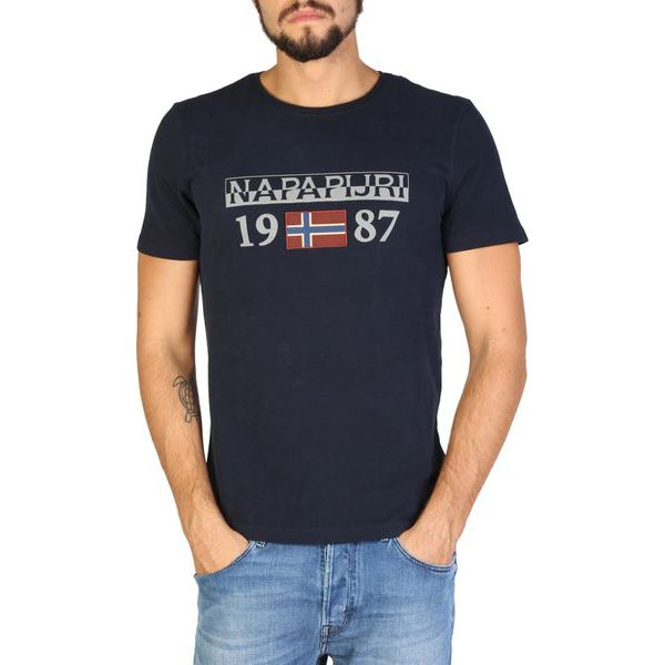 3cc6e9cabfcc1c Napapijri T-Shirt Męski Xl Ciemny Niebieski - Niebieskie t-shirty ...