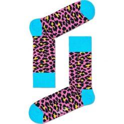 Happy Socks - Skarpetki Leopard. Szare skarpety damskie Happy Socks, z bawełny. W wyprzedaży za 29.90 zł.