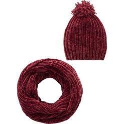 Czapka z szenili + szal koło (2 części) bonprix czerwony klonowy. Czapki i kapelusze damskie marki WED'ZE. Za 74.99 zł.