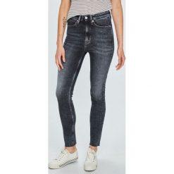 Calvin Klein Jeans - Jeansy 021. Czarne jeansy damskie