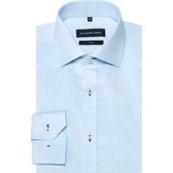 Koszula SIMONE KDWS000359. Niebieskie koszule męskie Giacomo Conti, z bawełny, z klasycznym kołnierzykiem, z długim rękawem. Za 199.00 zł.