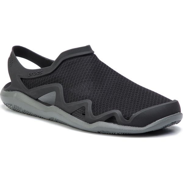 cfccb4bfdf128 Sandały CROCS - Swiftwater Mesh Wave M 205701 Black/Slate Grey ... crocs  swiftwater m  skie