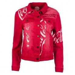 Desigual Kurtka Damska Coke 34 Czerwony. Czerwone kurtki damskie Desigual, z napisami. Za 549.00 zł.