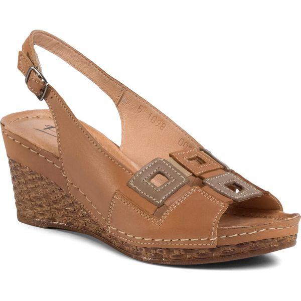 Sandały POLLONUS 5 0824 048 Capucino