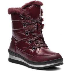 Śniegowce CAPRICE - 9-26221-21 Bordeaux Comb 551. Czerwone kozaki damskie Caprice, z materiału. W wyprzedaży za 219.00 zł.