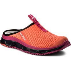 Klapki SALOMON - Rx Slide 3.0 W 401454 21 M0 Fiery Coral/Evening Blue/Pink Glo. Brązowe klapki damskie Salomon, z materiału. W wyprzedaży za 189.00 zł.