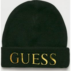 Guess Jeans - Czapka. Szare czapki i kapelusze damskie Guess Jeans, z dzianiny. Za 189.90 zł.