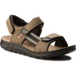 Sandały LANETTI - MS17009-1 Khaki. Brązowe sandały męskie Lanetti, z materiału. W wyprzedaży za 69.99 zł.
