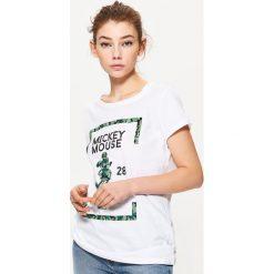 Koszulka MICKEY MOUSE - Biały. Białe t-shirty damskie Cropp, z motywem z bajki. Za 39.99 zł.
