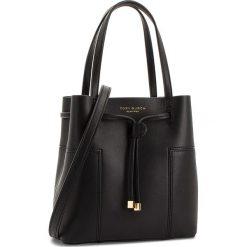 Torebka TORY BURCH - Block-T Small Bucket Bag 50224 Black 001. Czarne torebki do ręki damskie Tory Burch, w geometryczne wzory, ze skóry. W wyprzedaży za 1,149.00 zł.