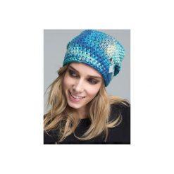 Czapka hauer KRAFF BLUE SKY hand made. Niebieskie czapki i kapelusze damskie Hauer, z dzianiny. Za 109.00 zł.
