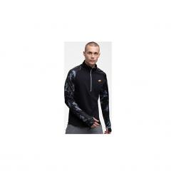 Bluza treningowa męska BLMF250 - głęboka czerń allover. Bluzy męskie marki KALENJI. W wyprzedaży za 99.99 zł.