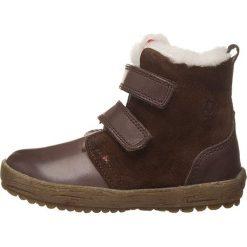 """Skórzane botki zimowe """"Val"""" w kolorze brązowym. Buty zimowe chłopięce marki Geox. W wyprzedaży za 215.95 zł."""
