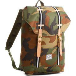 Plecak HERSCHEL - Retreat M 10329-01832 Woodland Camo/Black/White. Brązowe plecaki damskie Herschel, z materiału, sportowe. W wyprzedaży za 349.00 zł.