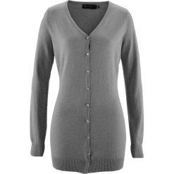 Długi sweter rozpinany bonprix szary melanż. Kardigany damskie marki bonprix. Za 74.99 zł.