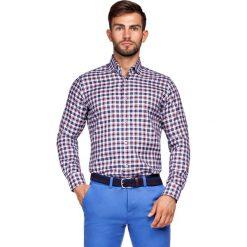 Koszula w Kratę Fidelia. Czerwone koszule męskie LANCERTO, z bawełny. Za 299.90 zł.