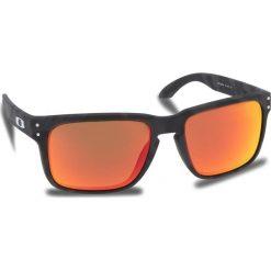Okulary przeciwsłoneczne OAKLEY - Holbrook OO9102-E955 Black Camo/Prizm Ruby. Czarne okulary przeciwsłoneczne męskie Oakley, z tworzywa sztucznego. W wyprzedaży za 479.00 zł.