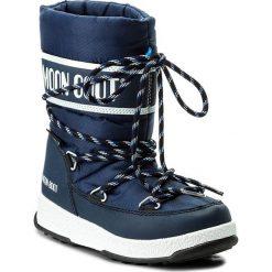 Śniegowce MOON BOOT - We Sport Jr Wp 34051300002 Blu Navy/Bianco. Buty zimowe chłopięce Moon Boot, z materiału. W wyprzedaży za 249.00 zł.