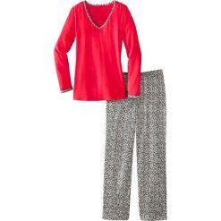 Piżama bonprix czerwony leo. Piżamy damskie marki MAKE ME BIO. Za 37.99 zł.