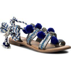 Japonki GIOSEPPO - Yurak 40505-32 Blue. Niebieskie klapki damskie Gioseppo, z materiału. W wyprzedaży za 169.00 zł.
