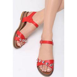 Czerwone Sandały Ramble On. Czerwone sandały damskie Born2be, z materiału. Za 69.99 zł.