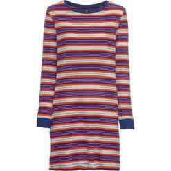 Sukienka shirtowa bonprix kobaltowo-pomarańczowo-czerwony w paski. Niebieskie sukienki damskie bonprix, w paski. Za 74.99 zł.