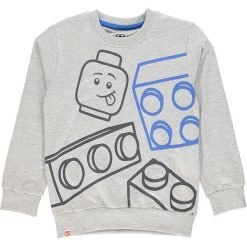 Bluza w kolorze szarym. Zielone bluzy dla chłopców marki Lego Wear Fashion, z bawełny, z długim rękawem. W wyprzedaży za 42.95 zł.