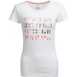 T-shirt damski TSD602 - biały - Outhorn. Białe t-shirty damskie Outhorn, z bawełny. W wyprzedaży za 24.99 zł.
