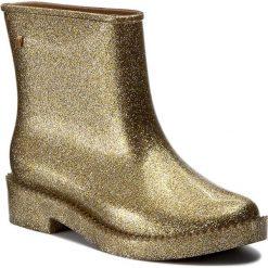 Kalosze MELISSA - Rain Drop Boot Ad 32185 Glass Silver Glitter 03586. Żółte kozaki damskie Melissa, z materiału. W wyprzedaży za 279.00 zł.