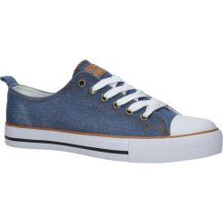 niebieskie trampki jeansowe sznurowane american lh 18 nj0304