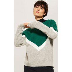 Trójkolorowy sweter - Wielobarwn. Szare swetry damskie House. Za 69.99 zł.
