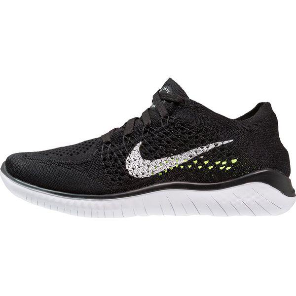 de30a831 Nike Performance FREE RN FLYKNIT 2018 Obuwie do biegania neutralne  black/white - Obuwie sportowe damskie marki Nike Performance, z materiału.  Za 549.00 zł.