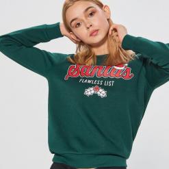 Świąteczna bluza - Khaki. Bluzy damskie marki KALENJI. W wyprzedaży za 29.99 zł.
