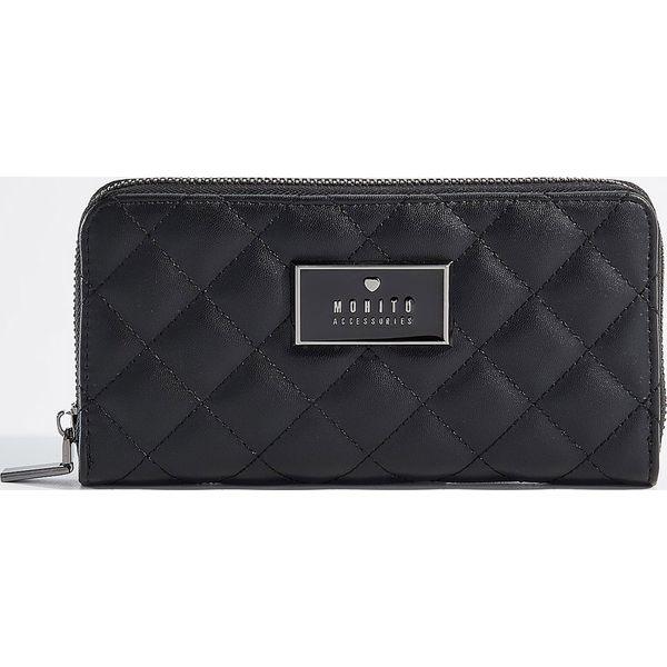 5564e9cfe4097 Pikowany portfel - Czarny - Czarne portfele damskie marki Mohito. Za ...