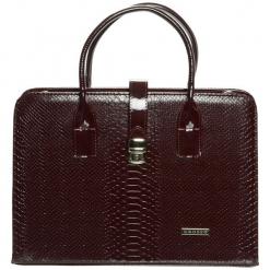 Grosso Bag Torebka Damska Brązowy. Brązowe torebki do ręki damskie Grosso Bag, ze skóry. Za 195.00 zł.