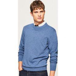 Gładki sweter - Niebieski. Niebieskie swetry przez głowę męskie Reserved. Za 79.99 zł.