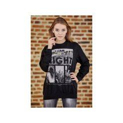 Bluza UNDERWORLD casual One Night. Czarne bluzy męskie Underworld, z nadrukiem, z bawełny. Za 119.99 zł.