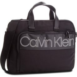 Torba na laptopa CALVIN KLEIN - Double Logo Laptop B K50K503902  001. Czarne torby na laptopa męskie Calvin Klein, z materiału. Za 599.00 zł.
