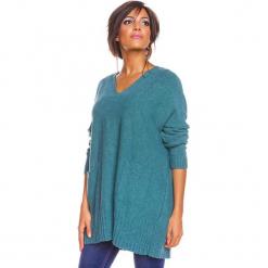 """Sweter """"Lolita"""" w kolorze turkusowym. Niebieskie swetry damskie So Cachemire, z kaszmiru. W wyprzedaży za 186.95 zł."""