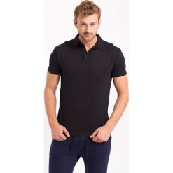 Koszulka polo męska TSM050Z - czarny. Czarne koszulki polo męskie 4f, na jesień, z bawełny. W wyprzedaży za 49.99 zł.