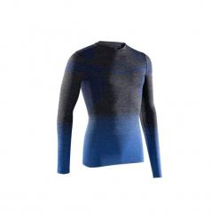 Koszulka termoaktywna długi rękaw dla dorosłych Kipsta Keepdry 500. Niebieskie koszulki sportowe męskie KIPSTA, z elastanu, z długim rękawem. W wyprzedaży za 39.99 zł.