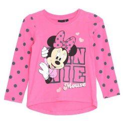 Fuksjowa Koszulka Pink Girl. Różowe bluzki dla dziewczynek Born2be, z okrągłym kołnierzem. Za 39.99 zł.