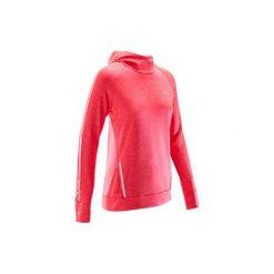 Bluza do biegania RUN WARM HOOD damska. Czerwone bluzy damskie KALENJI, z elastanu. Za 69.99 zł.