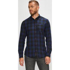 Produkt by Jack & Jones - Koszula. Czarne koszule męskie PRODUKT by Jack & Jones, w kratkę, z bawełny, button down, z długim rękawem. W wyprzedaży za 79.90 zł.