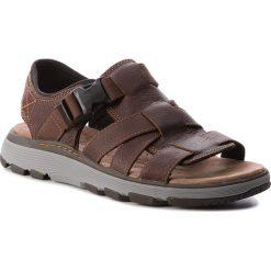 Sandały CLARKS - Un Trek Cove 261326207  Dark Tan Leather. Brązowe sandały męskie Clarks, z materiału. W wyprzedaży za 229.00 zł.