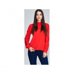 Bluzka M595 Czerwony. Czerwone bluzki damskie Figl, eleganckie, z falbankami, z długim rękawem. Za 135.00 zł.