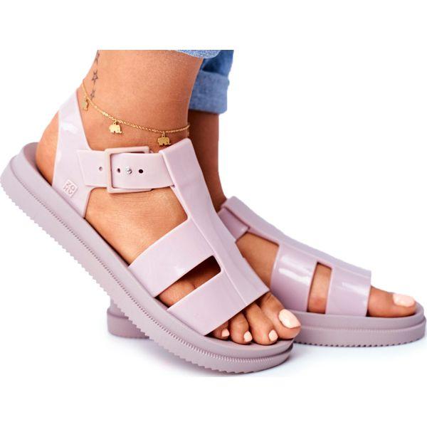 Damskie Sandały Pachnące Gumowe ZAXY Beżowe FF285025 brązowe