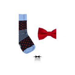 Red Dot 2 Zestaw Muszka i skarpetka. Czerwone krawaty i muchy Underbeard, z bawełny. Za 110.00 zł.