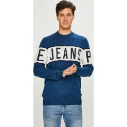 Pepe Jeans - Sweter Downing. Szare swetry przez głowę męskie Pepe Jeans, z bawełny, z okrągłym kołnierzem. Za 299.90 zł.